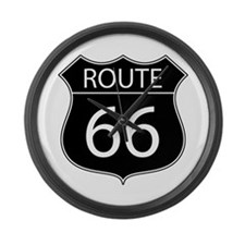 Route 66 Road Sign Large Wall Clock