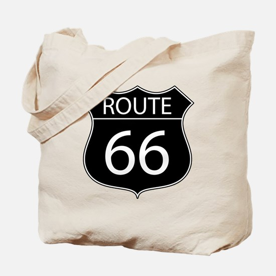 Route 66 Road Sign Tote Bag