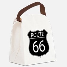 Route 66 Road Sign Canvas Lunch Bag