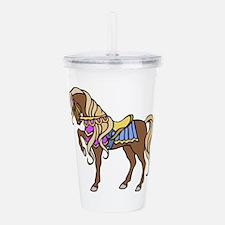 Horse Acrylic Double-Wall Tumbler