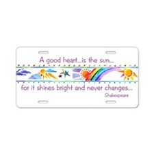 A good heart.jpg Aluminum License Plate