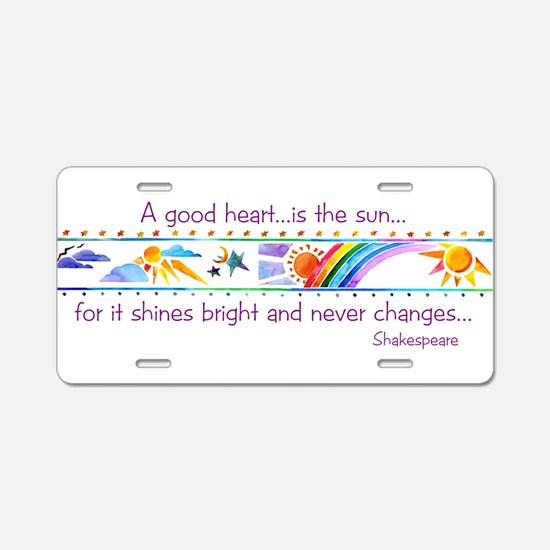 A good heart.jpg Aluminum License Plate
