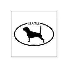 """Unique Beagle Square Sticker 3"""" x 3"""""""