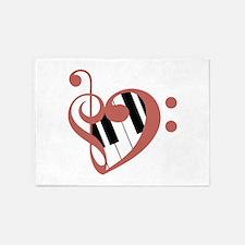 Love of Music 5'x7'Area Rug