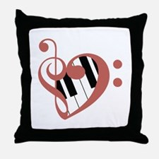 Love of Music Throw Pillow