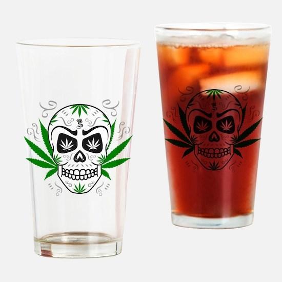 Cute Ganja Drinking Glass