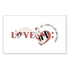 All I need is Love and Music Decal