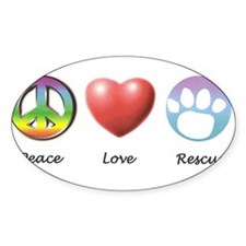 Cute Peace love cats Decal