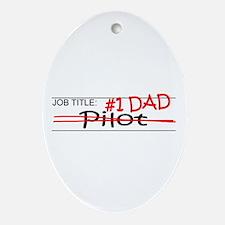 Job Dad Pilot Ornament (Oval)