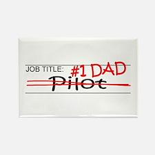 Job Dad Pilot Rectangle Magnet