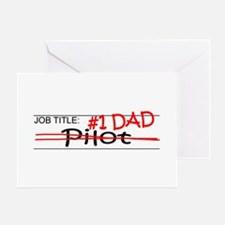 Job Dad Pilot Greeting Card