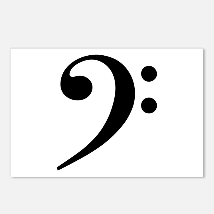 Bass Clef Postcards (Package of 8)