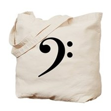 Bass Clef Tote Bag
