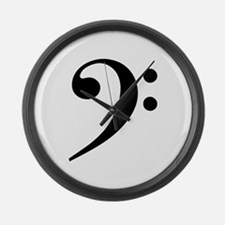 Bass Clef Large Wall Clock
