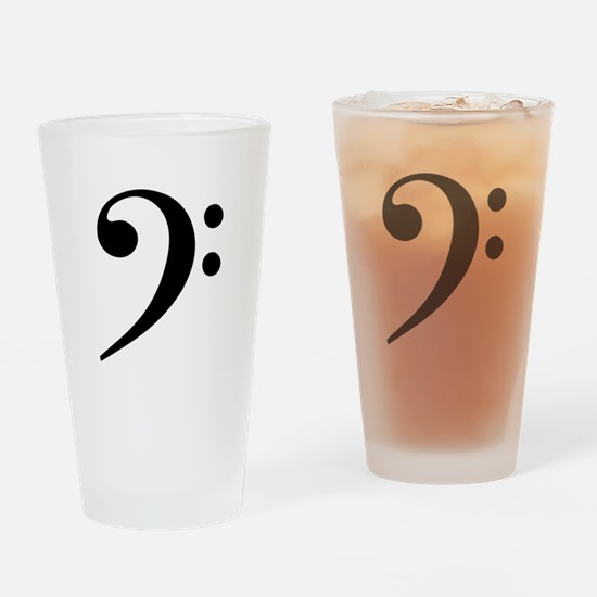 Bass Clef Drinking Glass