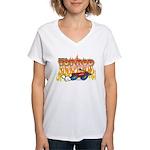 Tot Rod Racing Women's V-Neck T-Shirt