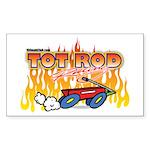 Tot Rod Racing Rectangle Sticker