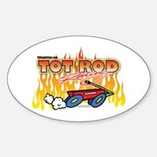 Tot Rod Racing Oval Decal