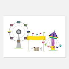 Amusement Park Postcards (Package of 8)