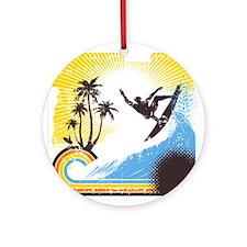 Retro Surfer Ornament (Round)