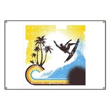 Retro Surfer Banner