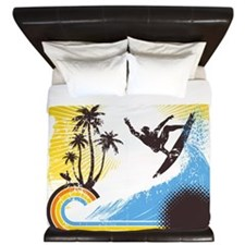 Retro Surfer King Duvet