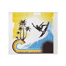 Retro Surfer Throw Blanket