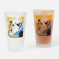 Retro Surfer Drinking Glass