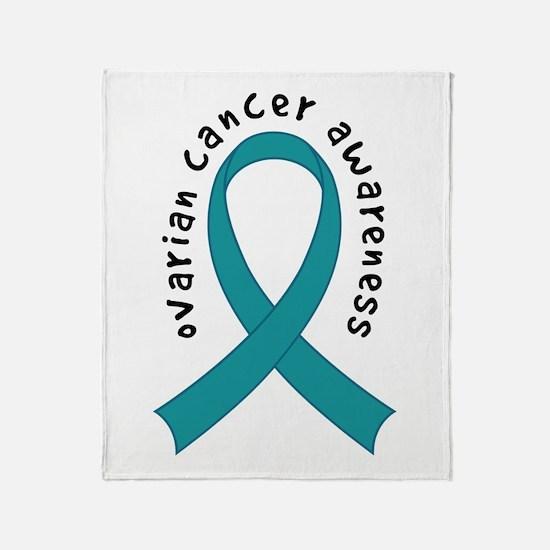 Ovarian Cancer Awareness Throw Blanket