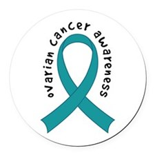 Ovarian Cancer Awareness Round Car Magnet