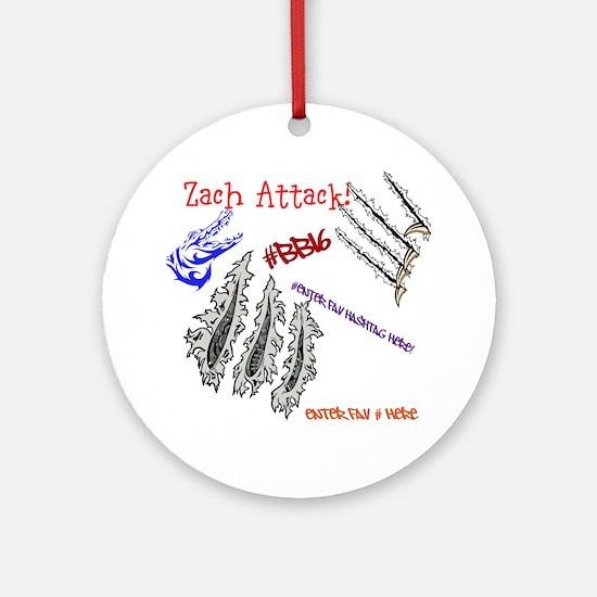Zach Attack BB16 TeamSpirit! Ornament (Round)