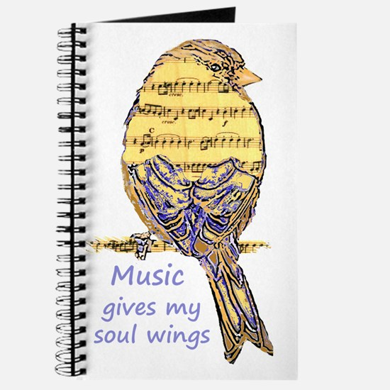 Music Gives my Soul Wings Journal