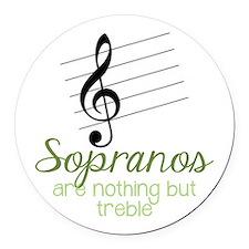 Sopranos Round Car Magnet