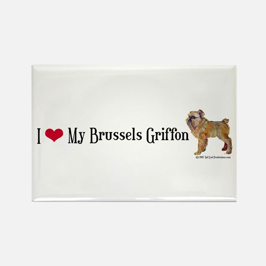 Brussels Griffon Heart Rectangle Magnet