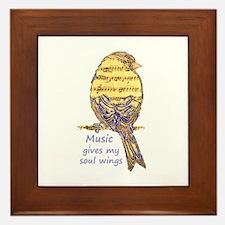 Music Gives My Soul Wings Framed Tile