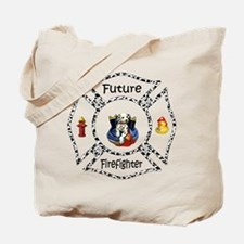 Future Firefighter Dalmatian Tote Bag
