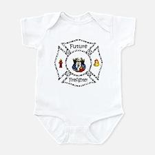 Future Firefighter Dalmatian Infant Bodysuit