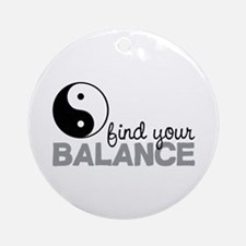 Find your Balance Ornament (Round)