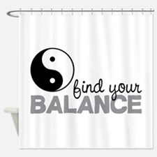 Find your Balance Shower Curtain