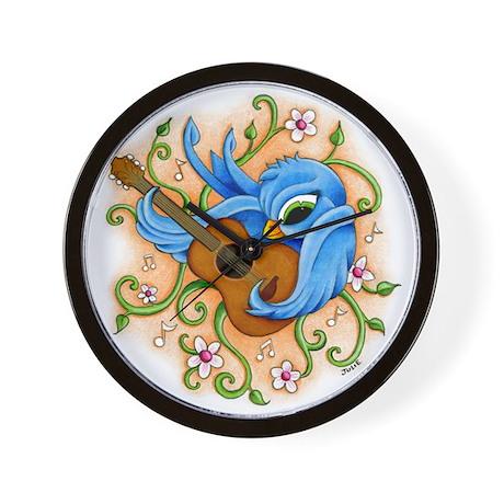 Song Bird Guitar Wall Clock