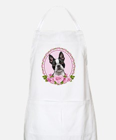 Boston pink roses Apron