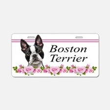 Boston pink roses Aluminum License Plate