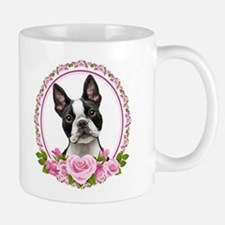 Boston pink roses Small Mugs