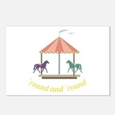 Round & Round Postcards (Package of 8)