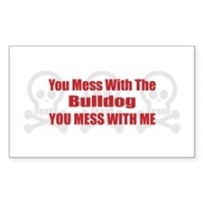 Mess With Bulldog Rectangle Decal