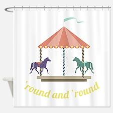Round & Round Shower Curtain