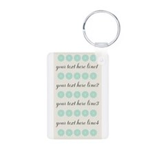 Personalized Pastels Mint Keychains