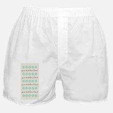 Cute Mint Floral Boxer Shorts