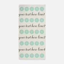 Cute Mint Floral Beach Towel
