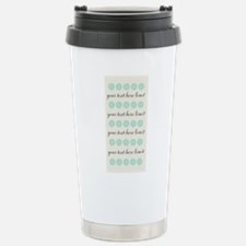 Cute Mint Floral Stainless Steel Travel Mug